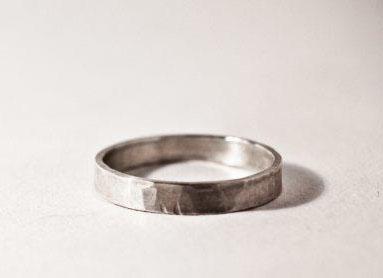 hammer textured ring
