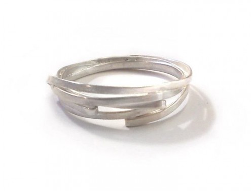silver fold rings