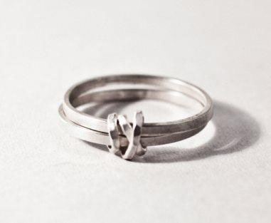 silver knot ring