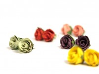 Mixed Colour Rosebud Studs