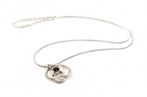 Pebble Cluster Necklace (Smokey Quartz)