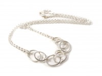 Pebble Cluster Necklace (Double Chain)