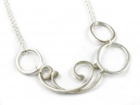 Baroque Necklace (Double chain with three hoops)